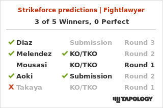 My Strikeforce Predictions